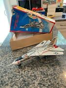 Nomura Vintage Tin And Plastic F-111a Fighter Jet Fully Working W/box. Cvideo