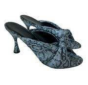 Balenciaga Drapy Snakeskin-embossed Leather Mules - Brand New Store Display Shoe