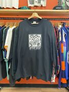 Keith Haring Stop Aids Act Up Golden Gate Black White Long Sleeve Shirt Mens Xl