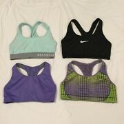 Lot Of 4 Nike And Under Armour Racerback Sports Bras Sz Small - Euc