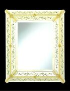 Mirror Glass Of Murano Classic With Gold Cert 24 Handmade In Italy