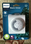 Philips Home Basic Timer Indoor Programmable Daily Cycle Polarized 2 Outlet New