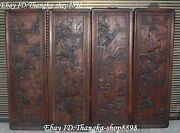 36 Chinese Huanghuali Wood Carving Ancient Man People House Life Wall Hanging