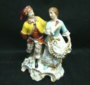 Group Porcelain Couple Man With Woman - Capodimonte End '800 Beginning' 900