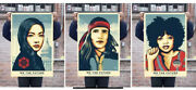 Shepard Fairey We The Future Signed Set Of 3 Prints All Signed