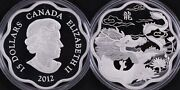 Canada 2012 Lunar Lotus Year Of The Dragon 15 Fine Silver Proof Coin
