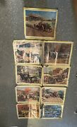Lot Of 9 Vintage Standard Oil And Refining Company Promotional Posters