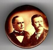 1900 Mckinley Roosevelt Campaign Button Pin