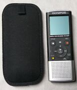 Olympusvn-8100pc Digital Voice Recorder Black And Silver Tested Working 🆓 🚢