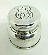 Vintage And Co. Sterling Silver Inkwell Monogramed Eb