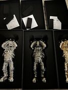 Kaws Holiday Space Figure Gold/black/silver Set New Pre-order