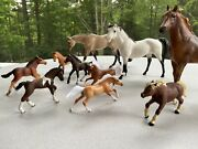 Lot Of 10 Breyer, Schleich, Safari Horses And Foals Classic /freedom Stablemates