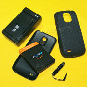 5in1 6300mah Battery Charger Cover Case Stylus For Samsung Galaxy S4 Mini I9190l