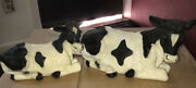 2 - Homco Cow Figures - 1987 And 1988- Vintage- Excellent Condition
