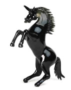 Genuine Murano Glass Sculpture Unicorn Made In Italy Patterned By Hand