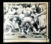 1969 Bart Starr Green Bay Packers Original Wire Photo Vs Detroit Lions
