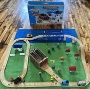 Thomas Wooden Train Set Day At The Works 1997 Shed Mill Boat Bridge Culdee Lot