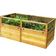 6 Ft. X 3 Ft. Garden In A Box Raised Bed Planter Hinged Front Panel Folds Down