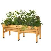 Natural Cedar Raised Bed Planter Garden Box Elevated V-shaped Space Saving Patio