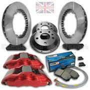 To Fit Bmw E46 M3 18andrdquo Front Brake Kit Andndash 6 Pot Calipers 350mm X 32mm