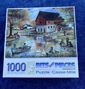 Bits And Pieces R Manning Old Mill Pond Landscapes Jigsaw Puzzle 1000 Pc ❤️sj7m5s