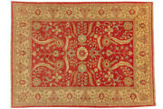 Afghan Chobi Ziegler Carpet Hand Knotted 210x280 Red Oriental Wool