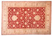 Afghan Ferahan Ziegler Luxury Carpet Hand Knotted 210x310 Red Floral Pattern