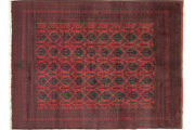 Afghan Khal Mohammadi Carpet Hand Knotted 250x340 Red Geometric Design Pattern
