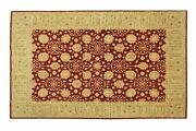 Afghan Chobi Ziegler Carpet Hand Knotted 210x310 Red Floral Wool Short-pile