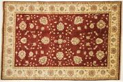 Afghan Chobi Ziegler Carpet Hand Knotted 200x300 Red Oriental Wool