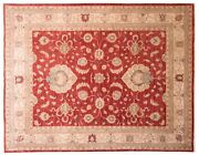 Afghan Ferahan Ziegler Luxury Carpet Hand Knotted 190x240 Red Floral Pattern