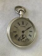 Hy Moser Two Face/double Dial Solid Silver Antique Chrono Pocket Watch As Is