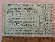 1904 Monthly Male Ticket Nycandhrrr New York Central And Hudson River Railroad