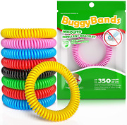 Buggybands Mosquito Bracelets 48 Pack Individually Wrapped Deet Free Natural