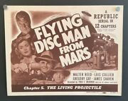 Flying Disc Man From Mars Lobby Card - The Living Projectile Hollywoodposters