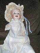 German 9 Inch Louis Wolf Doll Marked 152 L. W. And Co. 2/0 On Back Of Head Clothes