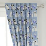 Ginger Jars Delft Vases Staffordshire Dog 50 Wide Curtain Panel By Roostery