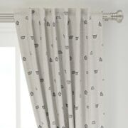 Japanese Garden Geometric Natural Sand Rock 50 Wide Curtain Panel By Roostery