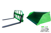 John Deere Jd 66 Snow/ Mulch Bucket And 48 Pallet Forks Combo Local Pickup