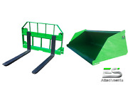 John Deere Jd 66 Snow/ Mulch Bucket And 36 Pallet Forks Combo Local Pickup