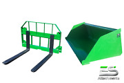 John Deere Jd 72 Snow/ Mulch Bucket And 36 Pallet Forks Combo Local Pickup