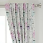 Boho Woodland Watercolor Pastel Tribal 50 Wide Curtain Panel By Roostery