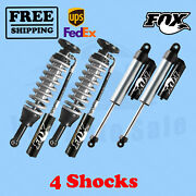 Fox Shocks Kit 4 Front 0-2 And Rear 0-1.5 Lift For Ford F150 4wd 2014-17
