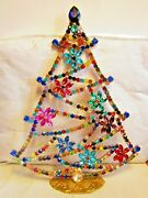 Beautiful Czech Handmade Christmas Tree Decoration Standing Signed And039and039m+sand039and039 T505