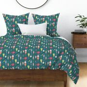 Fishing Lures Colorful Green Fish Lake Camping Sateen Duvet Cover By Spoonflower