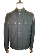 Andpound2399 Alfred Dunhill Cool Cafe Racer Large Leather Bomber Jacket Made In Italy