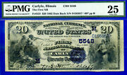 Top Pop 1/0 Ch 5548 - 1882 D/b 20 Finest Known - Carlyle Illinois Pmg 25