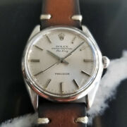 Mens Rolex Oyster Precision 5500 Air-king 34mm Automatic C.1970s Vintage Ra133