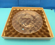 Limited Edition Crystal Maidens Fall Crystal Plate By Jose Dinis