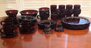 Vintage Avon Lot Of 35 Pieces Cape Cod Ruby Red 1876 Glassware Collection